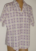 Men's Vintage 60s Shirt- Sears Kings Road Short Sleeve Groovy Print $24
