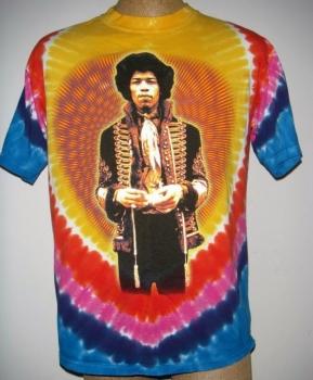 Jimi Hendrix Tie Dye T-Shirt - Large