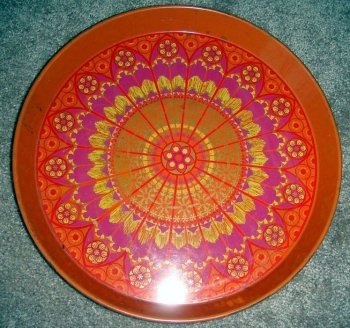 60s Party -Groovy Orange Metal Serving Tray