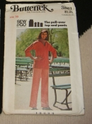 Butterick 3881 - Sew and Go Pattern Pull over Top and Pants