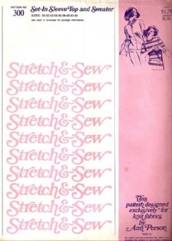 300 Stretch and Sew Top and Jacket Sewing Pattern $3