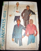 McCall's 4974 - Men's Pullover Shirt Sewing Pattern