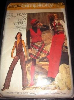 Simplicity 5204 How To Sew Vest Suit Sewing Pattern UNCUT - Size 12