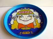 Vintage Peter Max Happy Metal Serving Tray $48