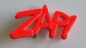 ZAP! 1980s Jewelry Plastic Pin Vintage