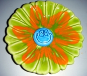 $5 sale! Mid Century MOD 60s Santa Ana Ware Ceramic Flower Smile Face Bowl  $10