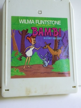 Wilma Flinstone Reads Bambi - 8 track tape Vintage 70s Audio Recording $3