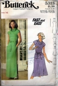 Butterick 5313 Fast and Easy Top, Dress and Skirt Sewing Pattern 4 Stretch Knits