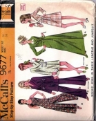 McCalls 9677 60s Jumpsuit and Robe in Three Length Pattern Size 16
