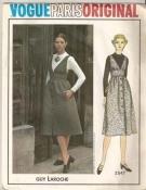 Vogue 2547 Paris Original Sewing Pattern Guy Laroche - A Line Midi Jumper