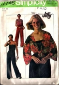 Simplicity 7748 Tube Top Jumpsuit and Wrap Jacket - Disco 1976 Sewing Pattern Size 10