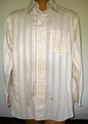 60s Men's Vintage Shirt Gant Brand -Yellow Inside Out Geometric Design