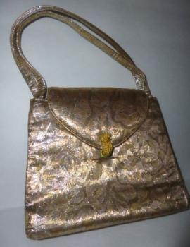 60s Vintage Gold Evening Purse Handbag Pocketbook- Sak's Fifth Avenue