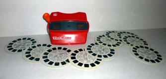Vintage 3-D View Master with 11 Reels - 70s Lot 1 -Scooby Doo, Peanuts, etc
