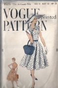 Vogue 9525 New Look Vintage 50s Dress Sewing Pattern Bust 32 Hip 34 1958