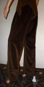 Vintage Foxy Brown Velvet 70s Slacks Pants Disco Club Wear
