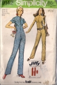 Simplicity 9142 Sewing Pattern 70s Jumpsuit Bust 34