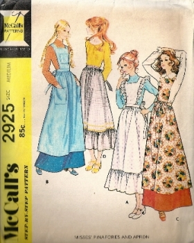 McCall's 2925 Pinafore and Apron Sewing Pattern Size Medium Size 12-14