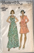 Butterick 4007 Fast and Easy 70s Sleevless Dress and Jacket Sewing Pattern