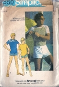 Simplicity 7550 Men's Pullover Tops and Swim Shorts Size 42 Chest 36 Waist