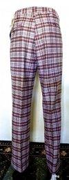 Dickie's 70s Men's Bellbottoms Vintage Red Plaid Pants -Disco Era