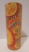70s Outdoor Decorative Candle Sun Print