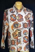 70s Men's LG Disco Photo Print Shirt
