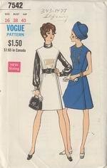 Vogue 7549 60s Dress Sewing Pattern