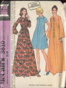 McCall's 3810 Vintage Sewing Pattern - 1973 XS