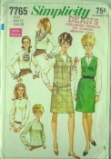 Simplicity 7765 60s Ruffle Shirt and Jumper Collection
