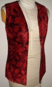 Red Tapestry Vintage 60s Vest Ladies Small