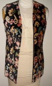 60s Multicolor Tapestry Vest