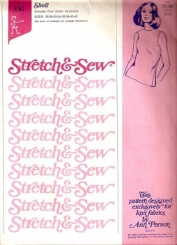 350 Stretch and Sew Shell Tank Sewing Pattern