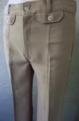 Angels Flight Disco Slacks Beige RARE 70s Tight Fit