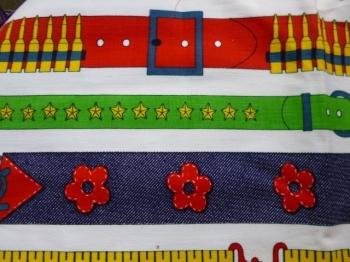 Vintage Fabric- 60s 70s Heavyweight Cotton  Belt Patterns