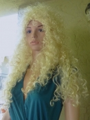 Big Hair 80s Blonde Curly Wig Synthetic Hair - Costume Burlesque CosPlay