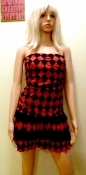 Red and Black Harlequin Dress
