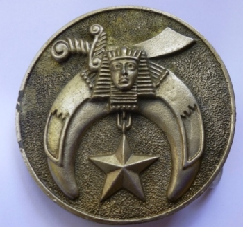 Egyptian Star Vintage Brass Belt Buckle