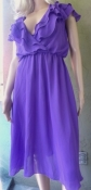 Frederick of Hollywood Vintage Purple Ruffle Day Dress