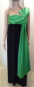 Joan Leslie by Kasper Green Bow Little Black Dress Gown