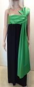 Joan Leslie by Kasper Green Bow Little Black Dress Gown