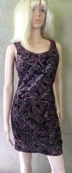 Gunne Sax by Jessica McClintock Mini Dress Screen Printed Velvet late 80s Size 7/8