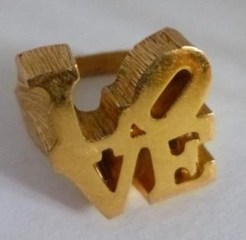 TRUE Vintage Gold Tone LOVE ring