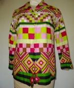 1960s Mid Century Modern Print Womens Shirt