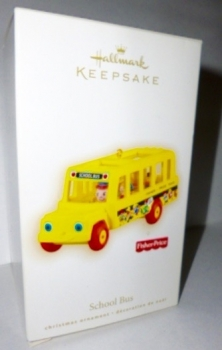 RARE 2009 Hallmark Keepsake Ornament Fisher-Price School Bus NIB