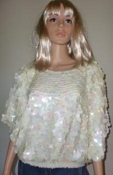 80s New Wave Shirt Irridecent Circles