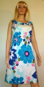 1960s Mini Dress Aloha Sleeveless Cotton EXCELLENT
