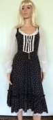 Vintage 70s Gunne Sax Corset Style Lace Front Dress - Small