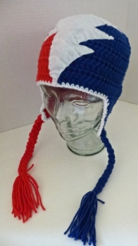 Grateful Dead Crochet Hat - Steal Your Face 50s Anniversary Design by Jeannie's Beannies