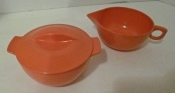 Melmac Sugar Creamer Set Vintage 60s 70s Kitchen Collectible